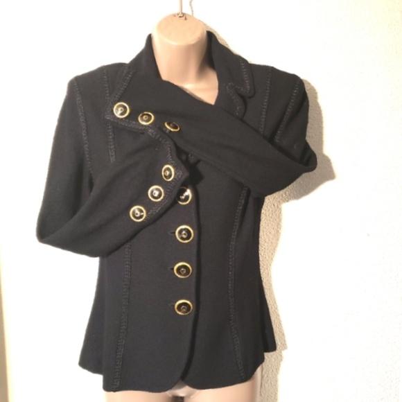 St. John Jackets & Blazers - ST. JOHN Collection vintage black knit blazer sz 6
